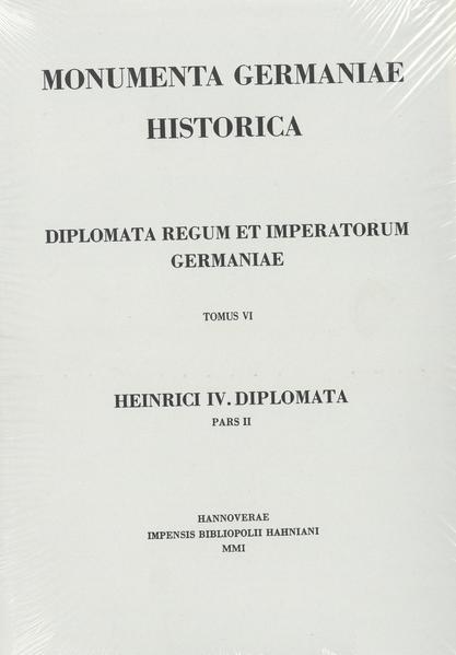 Die Urkunden Heinrichs IV. - Coverbild