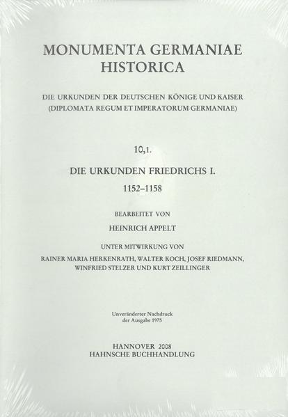 Die Urkunden Friedrichs I. 1152-1158 - Coverbild