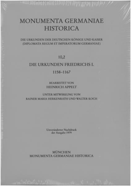 Die Urkunden Friedrichs I. 1158-1167 - Coverbild