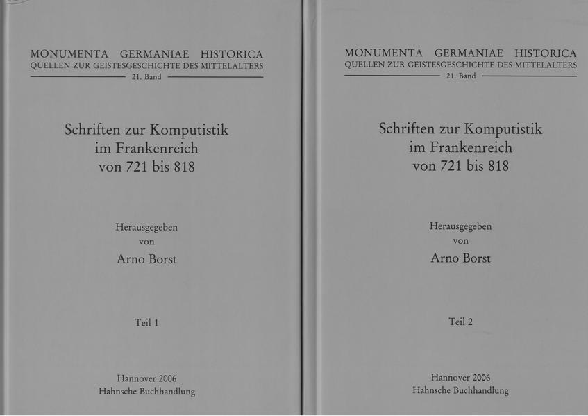 Schriften zur Komputistik im Frankenreich von 721 bis 818 - Coverbild