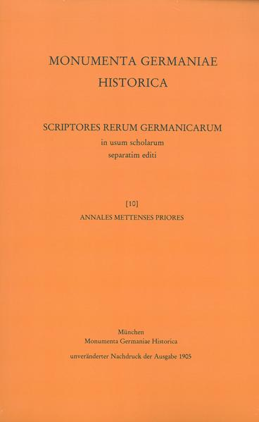 Annales Mettenses priores - Coverbild