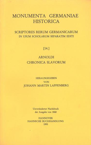 Arnoldi Chronica Slavorum - Coverbild
