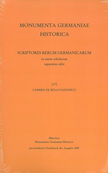 Carmen de bello Saxonico - Coverbild