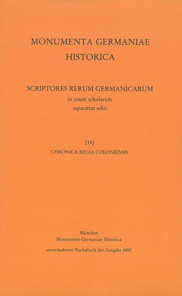 Chronica regia Coloniensis - Coverbild