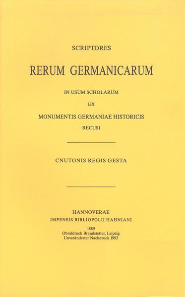 Cnutonis regis Gesta sive Encomium Emmae reginae auctore monacho S. Bertini - Coverbild