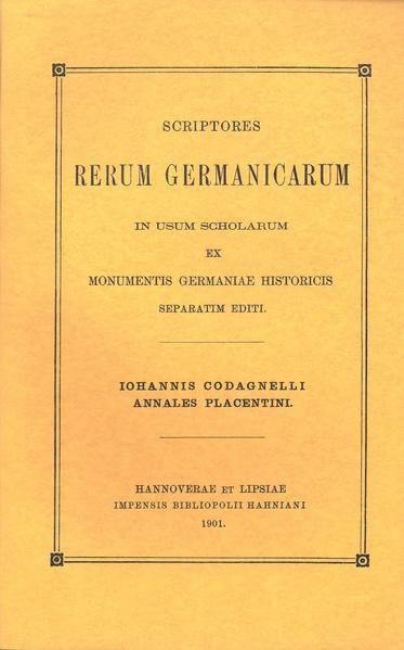 Iohannis Codagnelli Annales Placentini - Coverbild