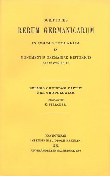 Ecbasis cuiusdam captivi per tropologiam - Coverbild