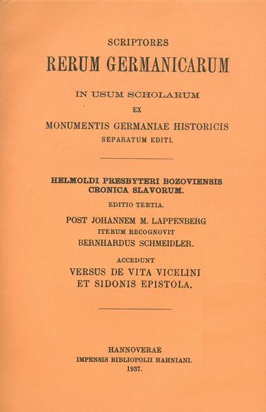 Helmolds Slavenchronik - Coverbild