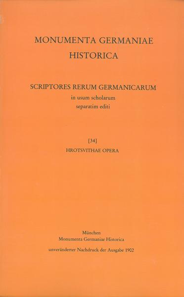 Hrotsvithae Opera - Coverbild