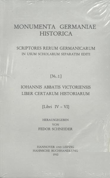 Iohannis abbatis Victoriensis Liber certarum historiarum - Coverbild
