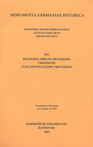Reginonis abbatis Prumiensis Chronicon cum continuatione Treverensi - Coverbild