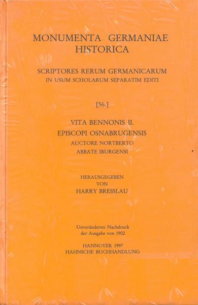 Vita Bennonis II, episcopi Osnabrugensis auctore Nortberto abbate Iburgensi - Coverbild