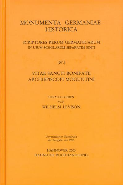 Vitae sancti Bonifatii archiepiscopi Moguntini - Coverbild