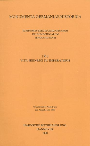 Vita Heinrici IV. imperatoris - Coverbild