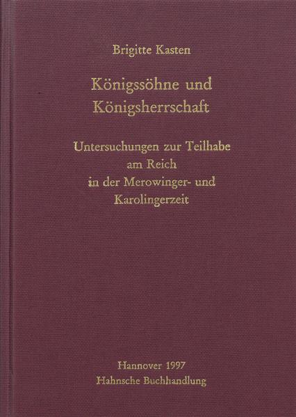 Königssöhne und Königsherrschaft - Coverbild