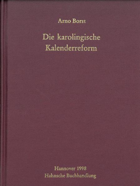 Die karolingische Kalenderreform - Coverbild