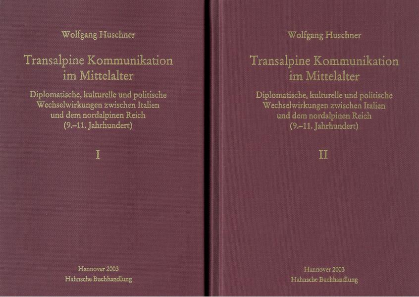 Transalpine Kommunikation im Mittelalter - Coverbild