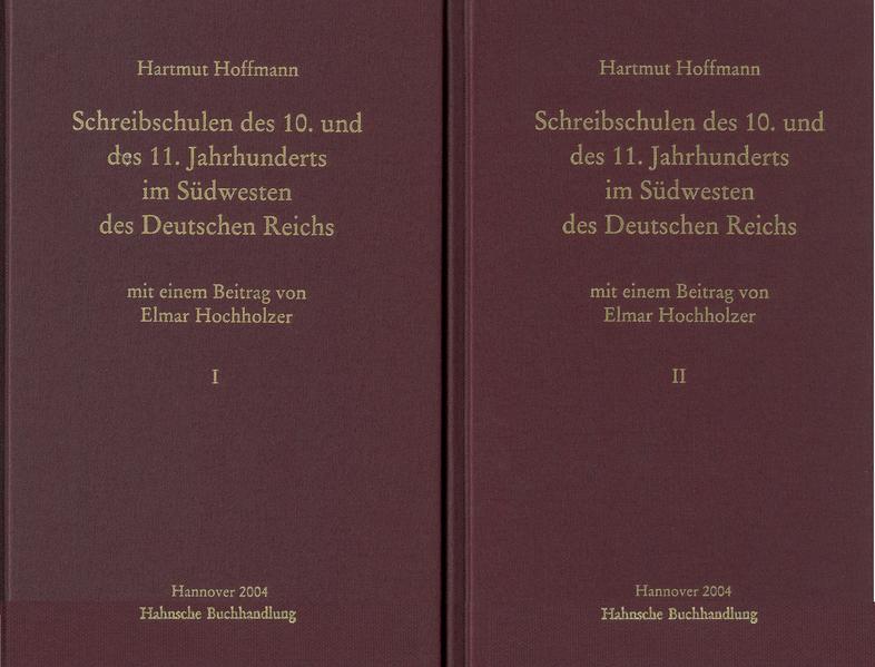 Schreibschulen des 10. und des 11. Jahrhunderts im Südwesten des Deutschen Reiches - Coverbild