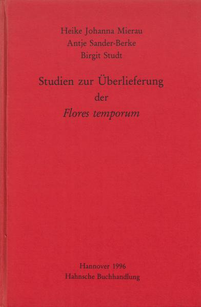 Studien zur Überlieferung der Flores temporum - Coverbild