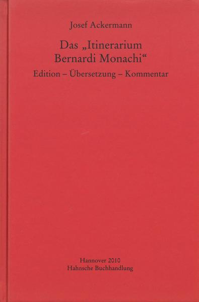 """Das """"Itinerarium Bernardi Monachi"""" - Coverbild"""