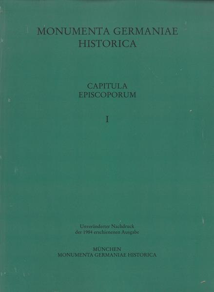 Capitula episcoporum, Teil 1 - Coverbild