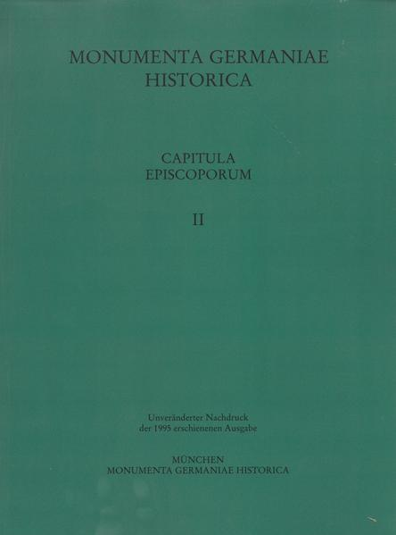 Capitula episcoporum, Teil 2 - Coverbild