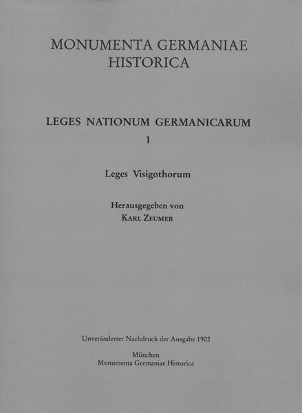 Leges Visigothorum - Coverbild