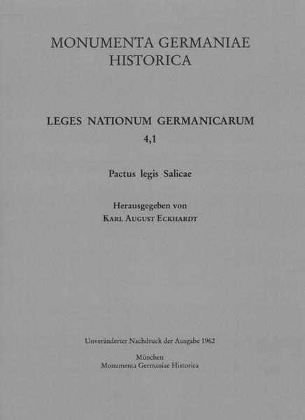 Pactus legis Salicae - Coverbild