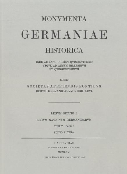 Leges Alamannorum - Coverbild