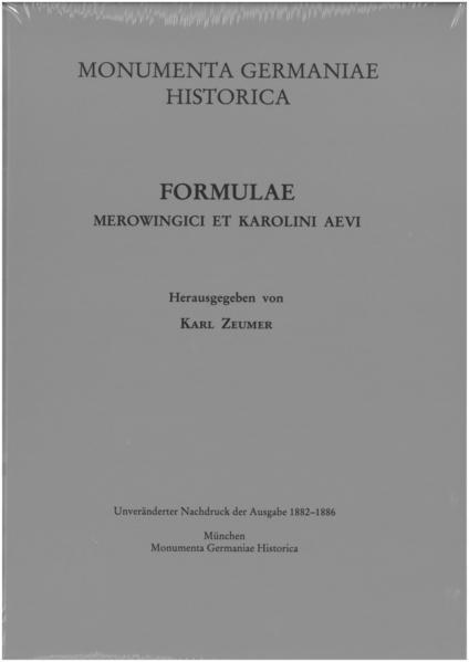 Monumenta Germaniae Historica. '/Hahn /Hiersemann' / Leges / Formulae Merowingici et Karolini aevi - Coverbild