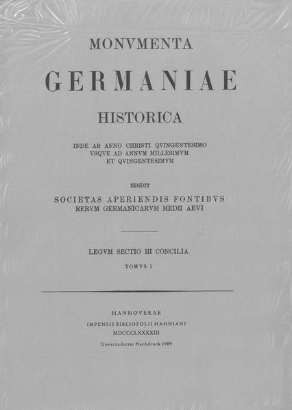 Concilia aevi Merovingici [511-695] - Coverbild