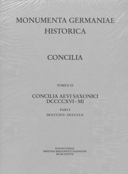 Die Konzilien Deutschlands und Reichsitaliens 916-1001, Teil 1: [916-960] - Coverbild