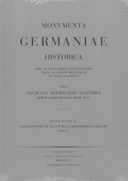 Constitutiones et acta publica imperatorum et regum (1198-1272) - Coverbild