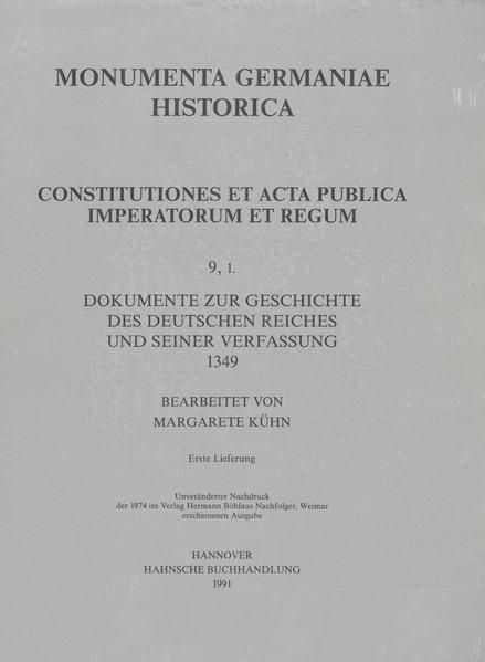 Constitutiones et acta publica imperatorum et regum (1349) - Coverbild