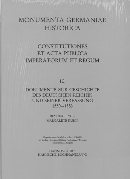 Constitutiones et acta publica imperatorum et regum (1350-1353) - Coverbild