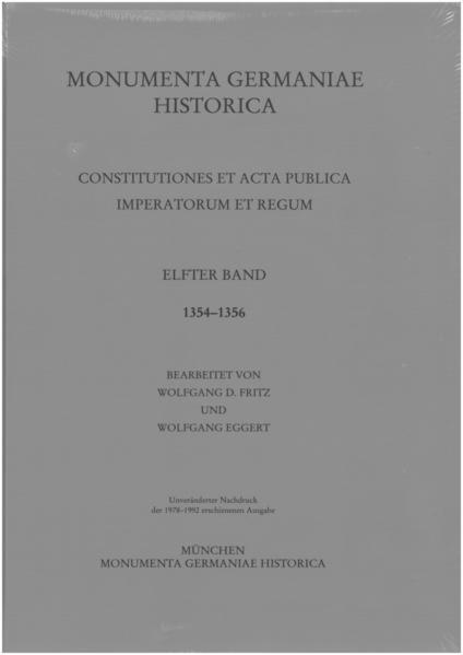 Constitutiones et acta publica imperatorum et regum (1354-1356) - Coverbild