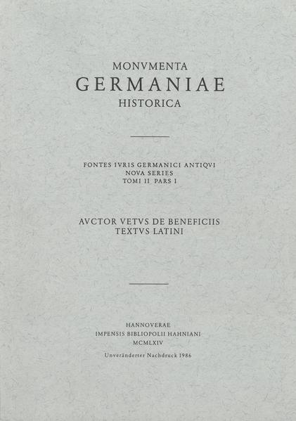 Auctor vetus de beneficiis. Textus latini - Coverbild