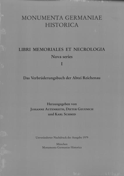 Das Verbrüderungsbuch der Abtei Reichenau - Coverbild