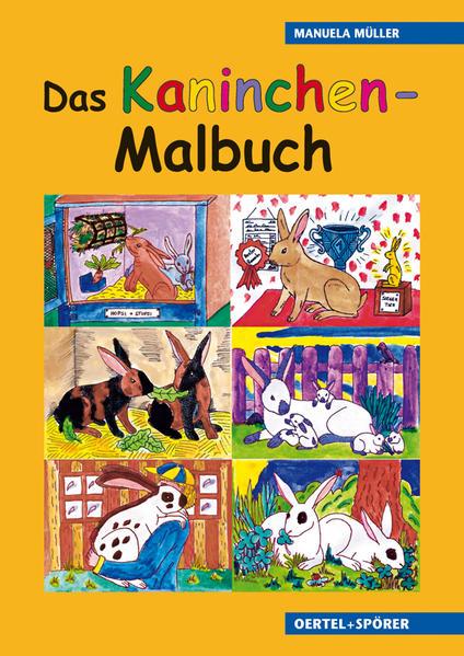 Kaninchen-Malbuch für Kinder - Coverbild