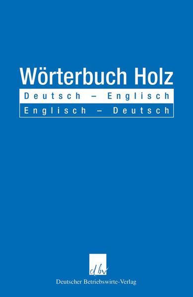 Wörterbuch Holz - Coverbild