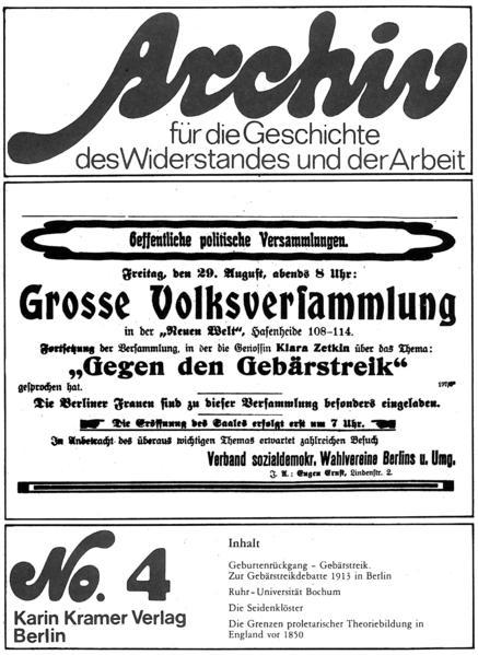 Archiv für die Geschichte des Widerstandes und der Arbeit - Coverbild