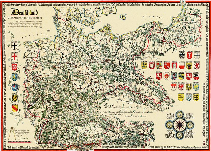 Deutschland und angrenzende Gebiete - Coverbild