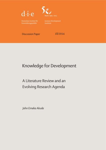 Knowledge for development - Coverbild