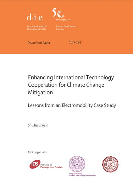 Enhancing international technology cooperation for climate change mitigation - Coverbild