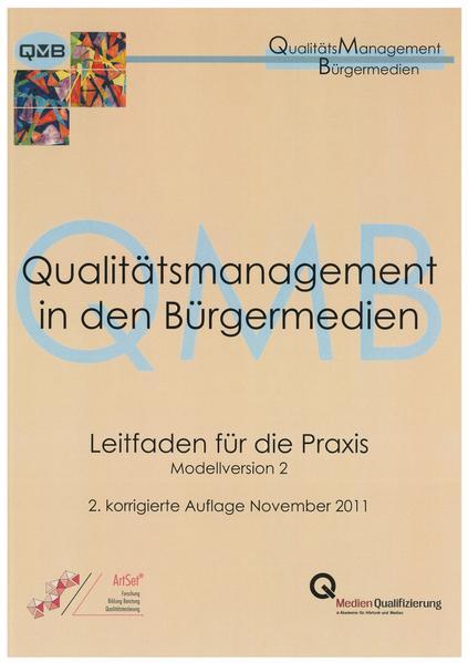 Qualitätsmanagement in den Bürgermedien - Coverbild