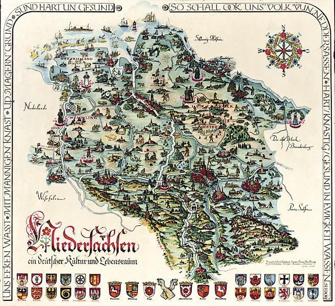 Schmuckkarte Niedersachsen - Coverbild