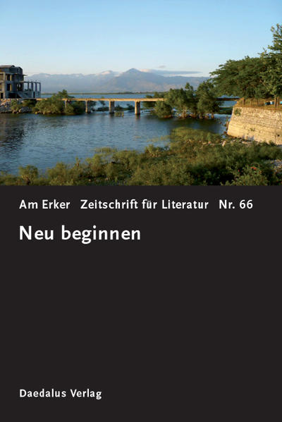 Am Erker. Heft 66: Neu beginnen - Coverbild