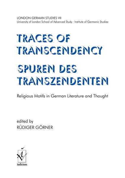 Traces of Transcendency /Spuren des Transzendenten - Coverbild