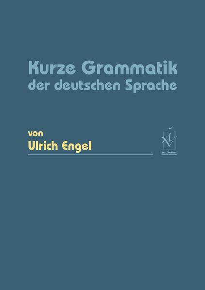 Kurze Grammatik der deutschen Sprache - Coverbild