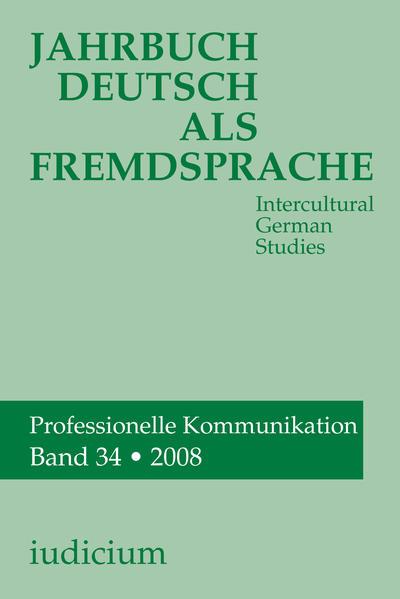 Jahrbuch Deutsch als Fremdsprache, Band 34 /2008 - Coverbild